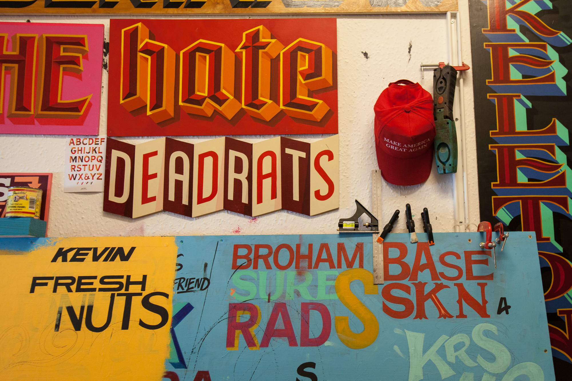 hand painted sign typography