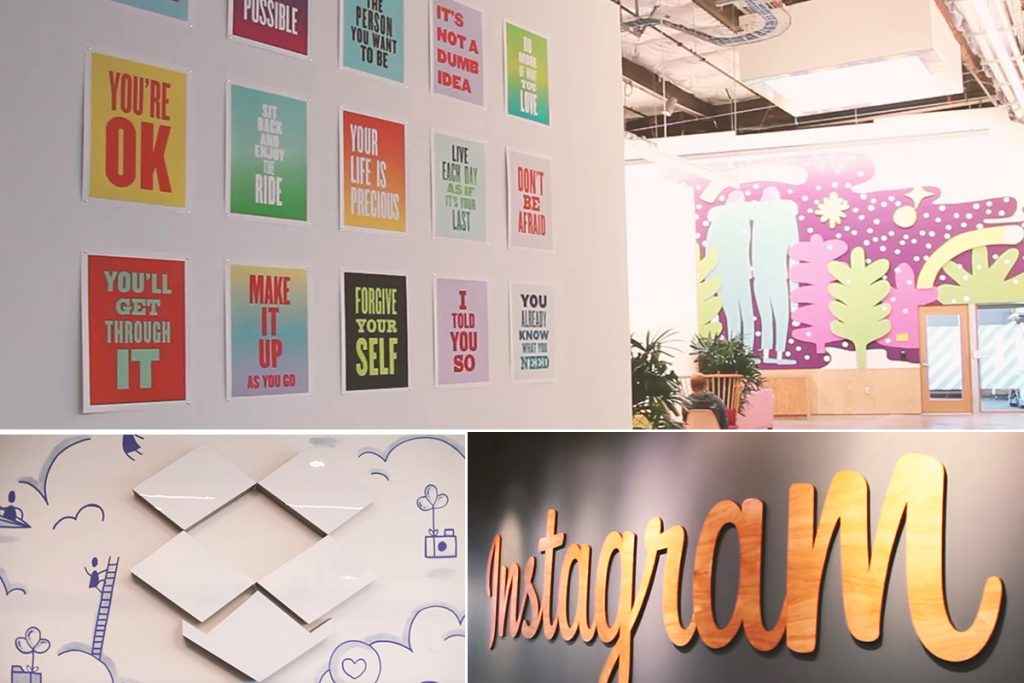 Cross Creative image compilation of posters and murals